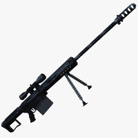 3d model of barrett m107a1 sniper rifle