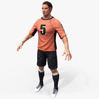 Real-Time Soccer Player 3D Model Textured