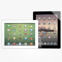 3d new ipad 2012 black model