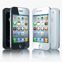 3d model of iphone 4 phone