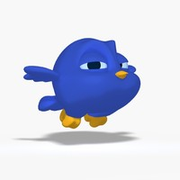 3ds max toon bird