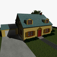 3d model griffin house cartoon family guy