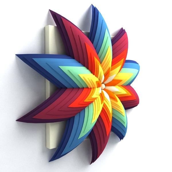 Wall Origami Decorative 3d Max