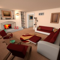 cinema4d living room