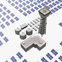 maya solar tower mojave desert
