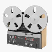 3d famous revox a77 tape recorder