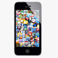 iphone 4 s 3d model