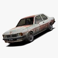 3d opel ascona car