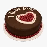 3d cake heart model