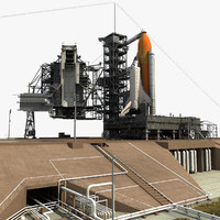 3d nasa launch complex shuttle model