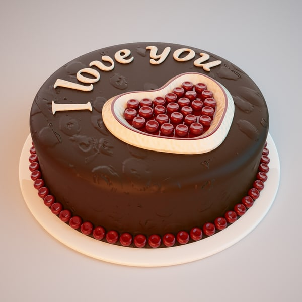 3d cake heart model - Cake with a Heart... by Stubborn3D