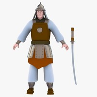 3d obj ancient soldier