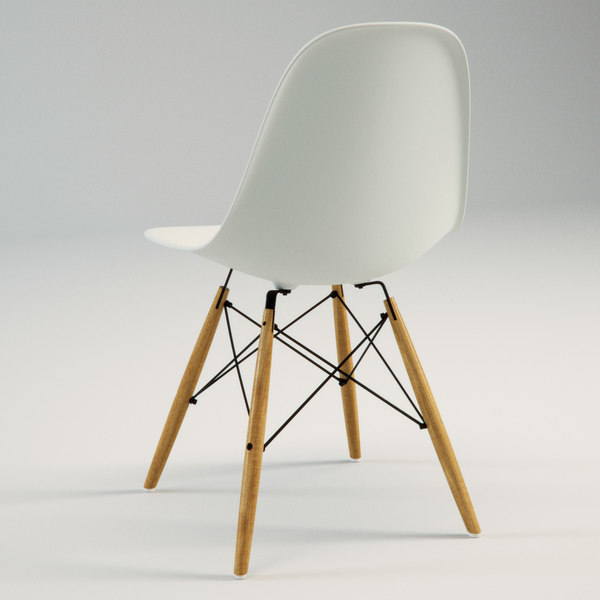 3d model eames plastic chair dsw for Icon mobel eames