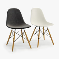 3d model eames plastic chair dsw
