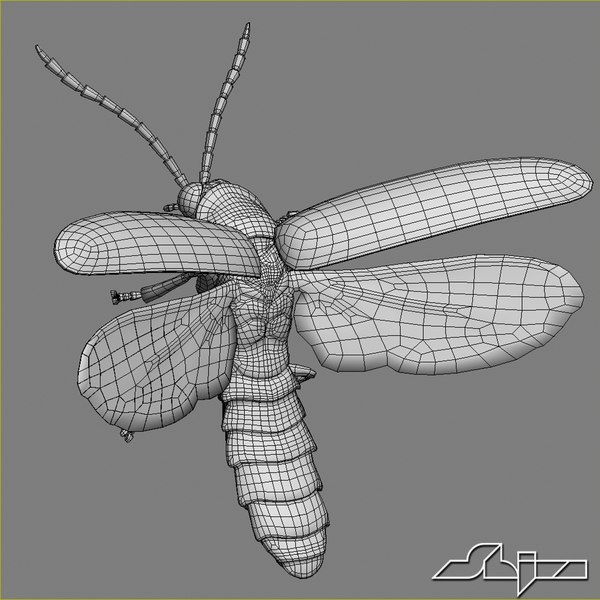 maya firefly bug flying pose