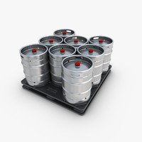 Pallet with Kegs