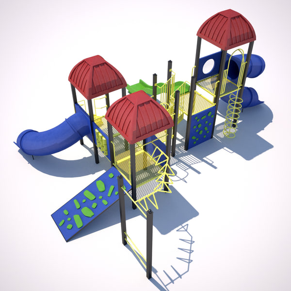 3d model outdoor playground equipment ground - Playground Equipment... by CTA AE