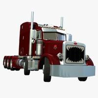 367 truck twin steer 3d model