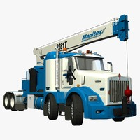 lightwave rigged crane truck