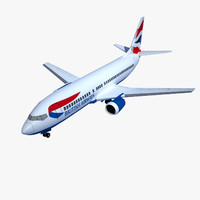 3d boeing 737-400 airplane
