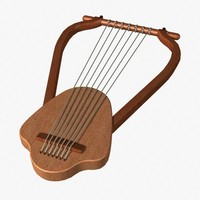 greek harp 3d model