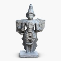 indian statuette india 3d max