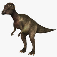 3d pachycephalosaurus dinosaurs lizard