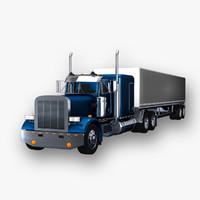 c4d 359 box trailer truck