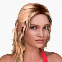 european woman character nicole 3d model
