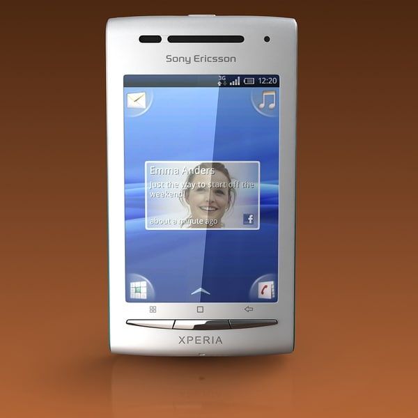 3d model of sony ericsson x8 - SONY ERICSSON XPERIA X8... by stefeu