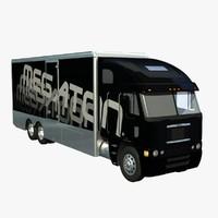 3d freightliner argosy truck van model