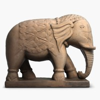 elephant sculpture 3d model