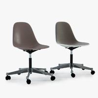 Photoreal Eames Plastic Side Chairs (PSCC)