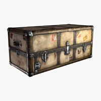 old steamer trunk 3d model
