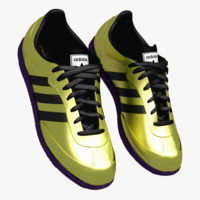 3d adidas samba classics gold model