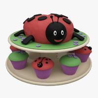 maya ladybug cake