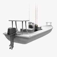 obj saltwater flats boat