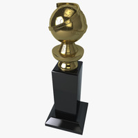 3d golden globe award model