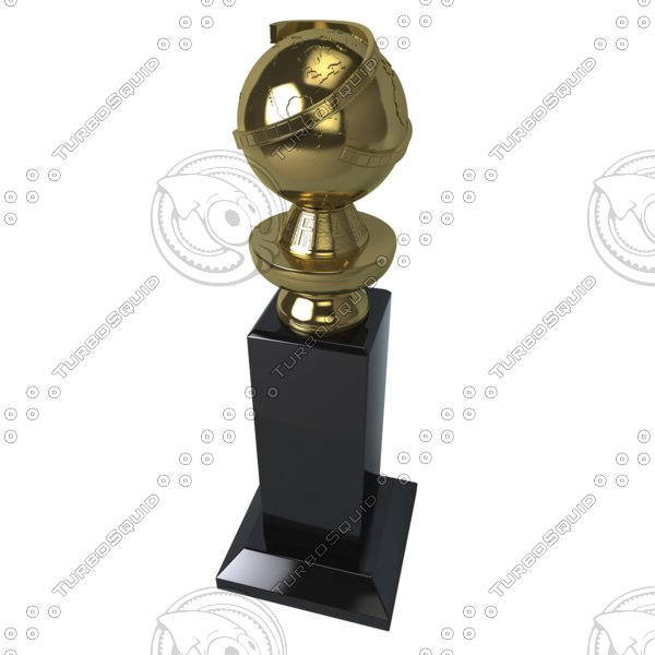 golden globe award 3d model - Golden Globe Award... by AhearnART