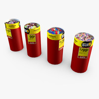 retail discount bins - 3d 3ds