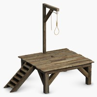 Gallows Scaffold with Noose