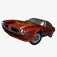 muscle car trans 3d max