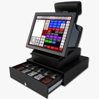 3d cash register model