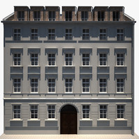 old building hd 03 3d model