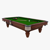 3d max pool table