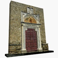 3d portal benedectine abbey farfa model