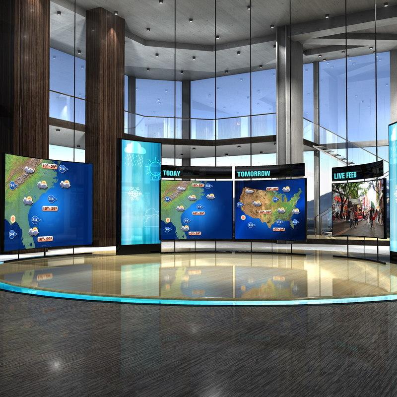 3d max virtual set weather studio for 3d studio max