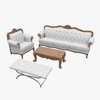 classic furniture 3d obj