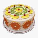 fruit cake 3D models
