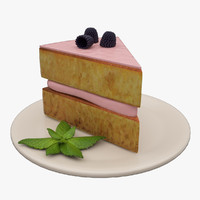 blackberry cake 3d model